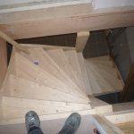 trap, handgemaakt, hout, ladder